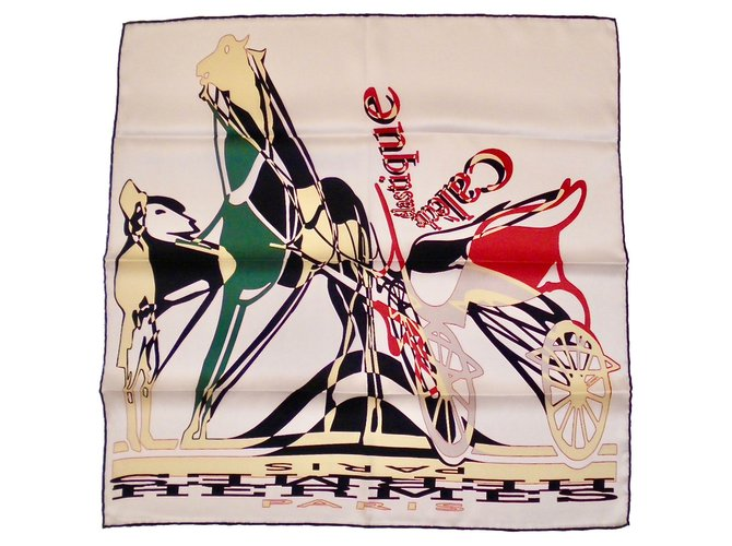 Hermès CALÈCHE ÉLASTIQUE Silk scarves Silk Multiple colors ref.55220