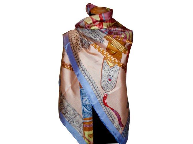 285657865ce Carrés Hermès CEINTURES et LIENS Soie Multicolore ref.55222 - Joli ...