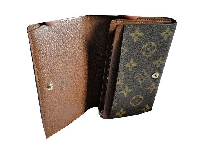 0754f3151a8f Petite maroquinerie homme Louis Vuitton portefeuille 2 plis Cuir,Toile  Marron,Caramel ref.