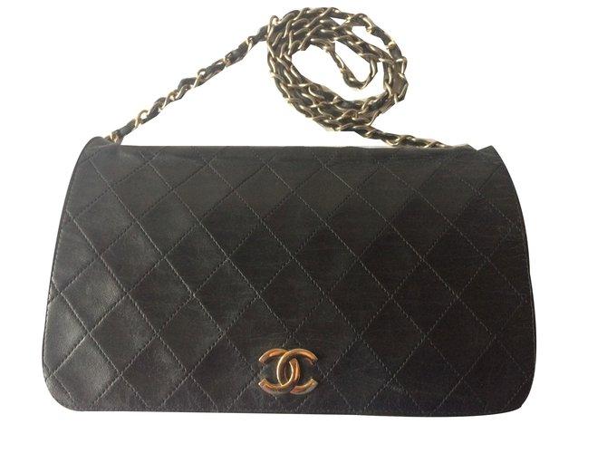 7e5b5cc9d7917f Chanel TIMELESS VINTAGE Handbags Leather Black ref.55244 - Joli Closet