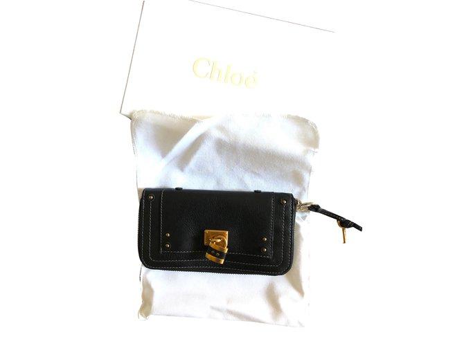 Chloé Chloe Wallet Purses, wallets, cases Leather Black ref.55354