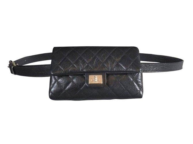 7b9f773ce969 Chanel Belt bag Handbags Leather Black ref.55408 - Joli Closet