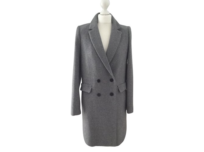 Manteau laine gris zara
