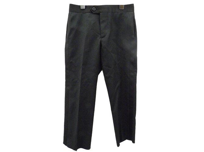 Pantalons garçon Burberry Pantalons garçon Laine Noir ref.55549