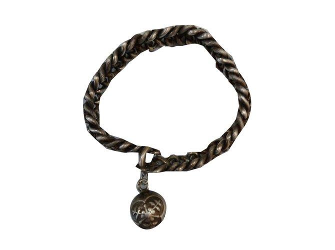 Bracelets Autre Marque Bracelet en argent massif vintage Argent Argenté ref.55586