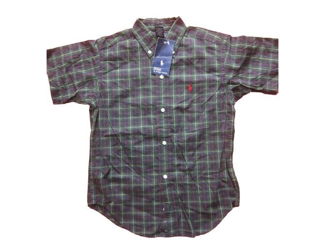 Tops garçon Ralph Lauren Chemise Ralph Lauren neuf etiquette 7 ans Coton Multicolore ref.55596