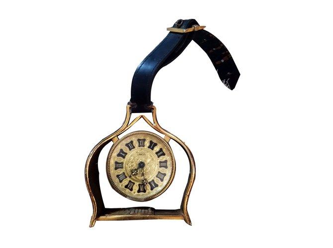 Lancel desktop clock Misc Metal Golden ref.55613
