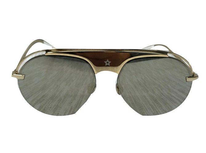 Lunettes Christian Dior Dior revolution 2 gold sunglasses Métal Doré  ref.55691 6d8397cc1d88