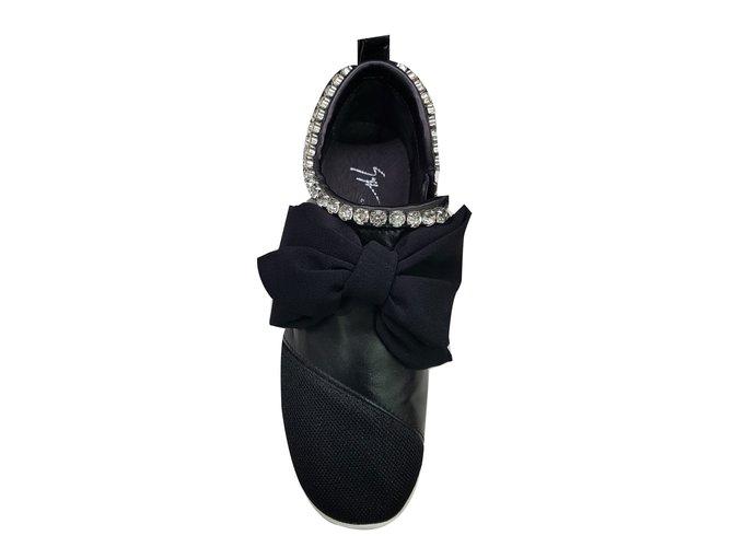 a02b22bd0a887 Giuseppe Zanotti Giuseppe zanotti jewell sneakers Sneakers Leather Black  ref.55709