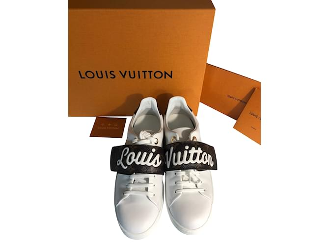 Louis Vuitton Sneakers Frontrown 2018 Sneakers Leather White ref.55726 6a358ffb742