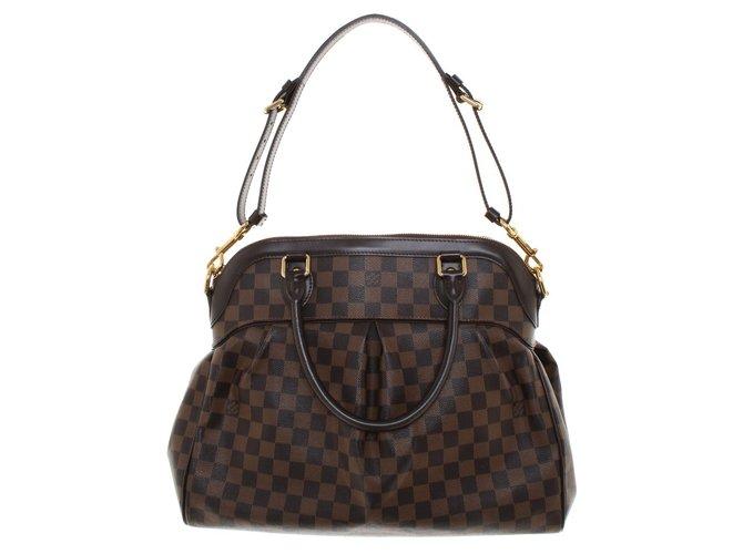 28f715708e Sacs à main Louis Vuitton Trevi GM Cuir,Toile Marron ref.55775 ...