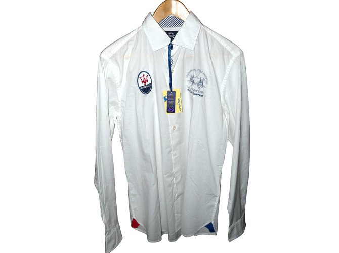 a80aee4fb Autre Marque La Martina Maserati Shirts Cotton White ref.55927 ...