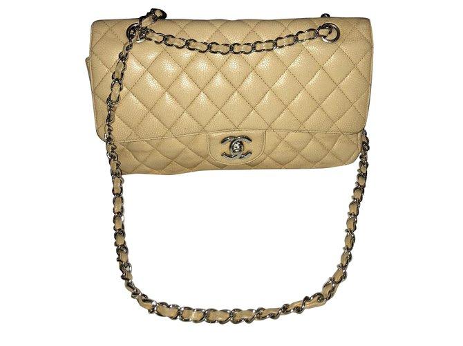 Sacs à main Chanel Sac chanel timeless Cuir Beige ref.55965