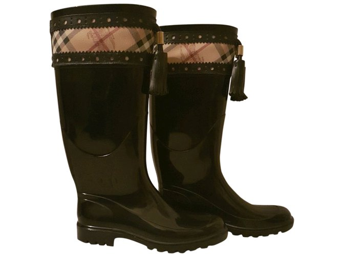 Burberry Rain Boots Boots Other Black ref.55971