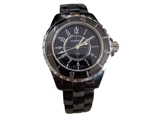 7e5355d70c1 Chanel Chanel J12 33mm Fine watches Ceramic Black ref.55975 - Joli ...