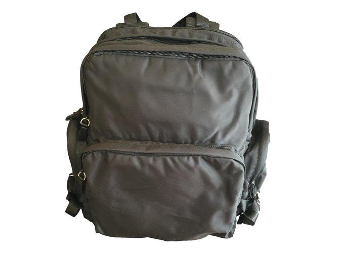 942b87aa5cc2 Prada Prada backpack Bags Briefcases Nylon Black ref.56014 - Joli Closet