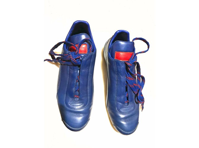 Louis Vuitton Sneakers Sneakers Leather Blue ref.56017