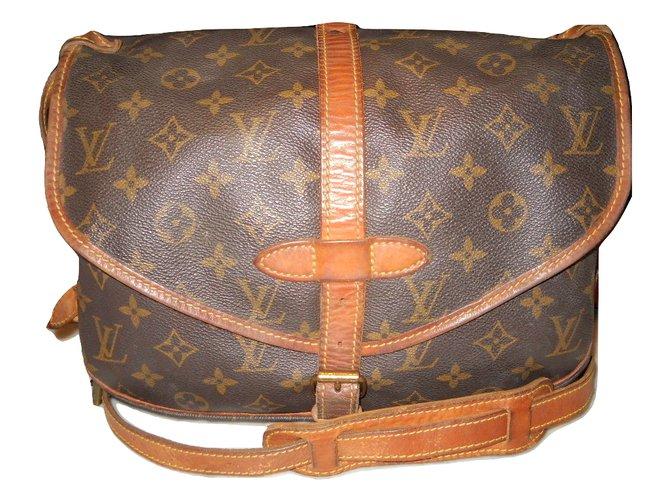 ecee438a3928 Louis Vuitton LOUIS VUITTON vintage Saumur 30 Monogram Handbags  Leather