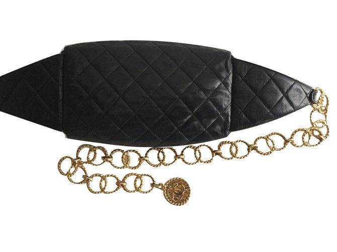 e9a79a02c3b6 Sacs à main Chanel Sacs à main Cuir Noir ref.56150 - Joli Closet