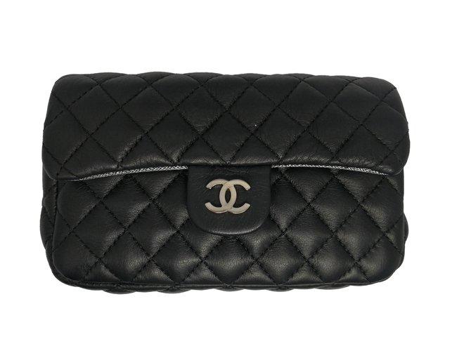 32ccaac39a63b Chanel Clutch belt bag Clutch bags Lambskin Black ref.56229 - Joli ...
