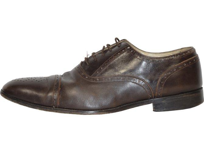 Chaussures à lacets ROBERTO DURVILLE cuir marron 45 dFpORj