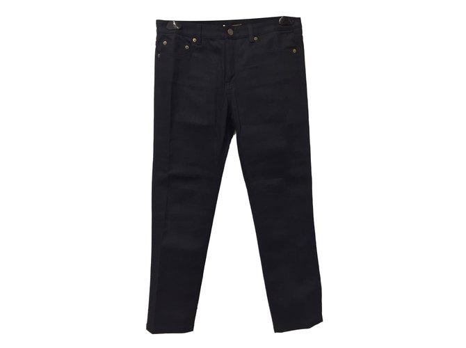 54348804a4a0 Saint Laurent Jeans Jeans Cotton Black ref.56463 - Joli Closet