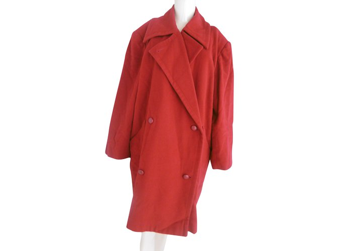 Chloé Chloe Double Breasted Wool Coat Coats, Outerwear Wool Red ref.56499