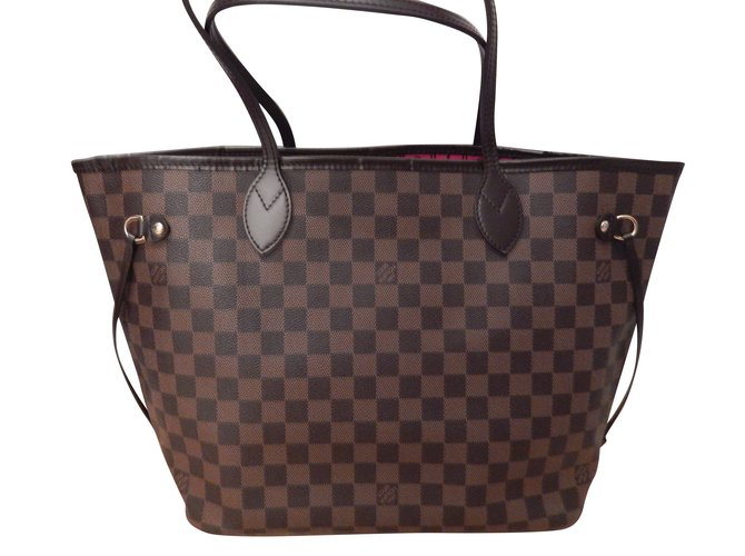 06f7d6bb9a4f Louis Vuitton Neverfull MM Damier Ebène Handbags Cloth Brown ref.56540