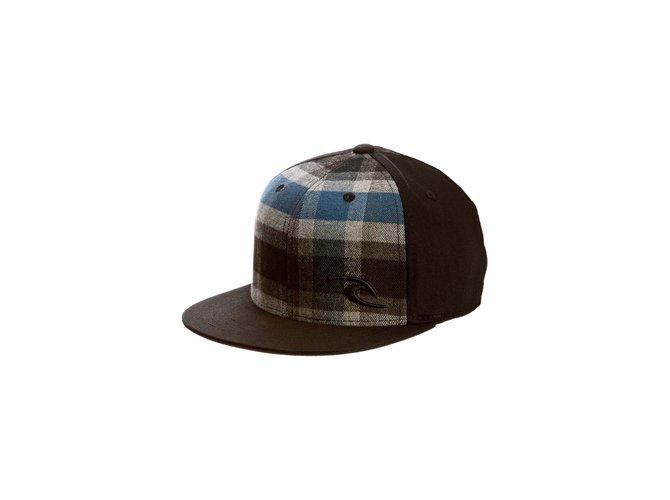 Chapeaux, bonnets, gants Autre Marque Rip Curl Casquette garçon Bleue Jacquard Carreaux Noir Rip Curl Checkin Mid Peak Cap Coton Noir,Bleu ref.56612