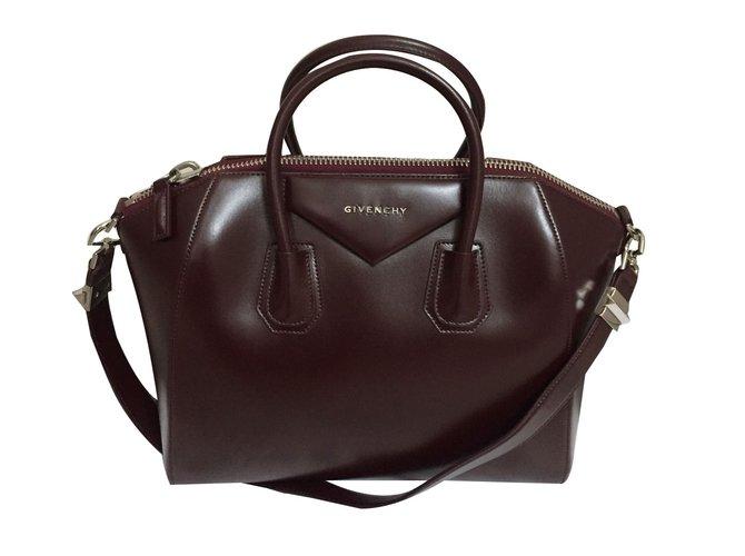 8ccb27f0be Givenchy Givenchy antigona medium burgundy Handbags Leather Dark red  ref.56745