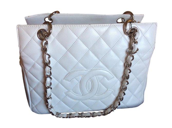8ac1463abe67a8 Chanel Handbags Handbags Leather White ref.56748 - Joli Closet