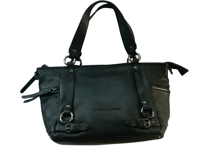 ca191fc6d Christian Lacroix Handbags Handbags Leather Black ref.56940 - Joli ...