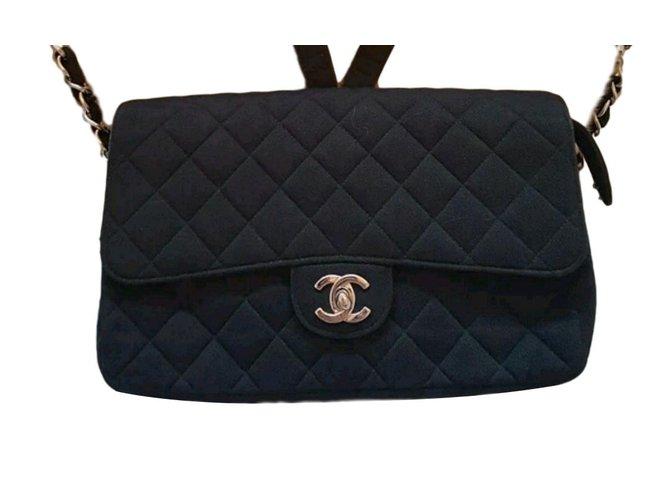 590d785bb60 Chanel Backpacks Backpacks Cloth Black ref.57108 - Joli Closet