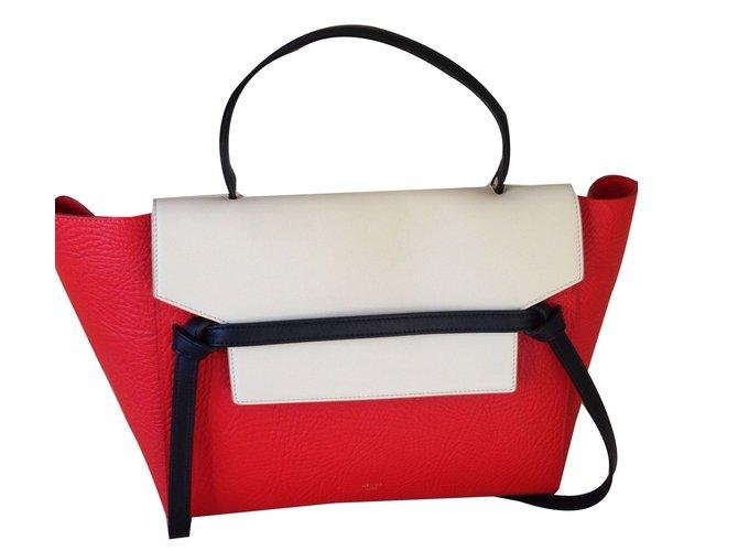 Sacs à main Céline Mini belt Cuir Rouge ref.57177 - Joli Closet 5b3ab8f05e