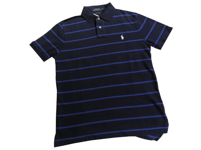 Polos Polo Ralph Lauren classic 2018 Coton Bleu,Bleu Marine ref.57327 90283db3a620