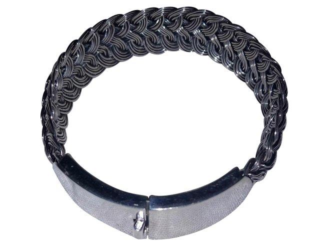 Bracelets Autre Marque Vintage Bracelet en argent massif Argent Argenté ref.57487