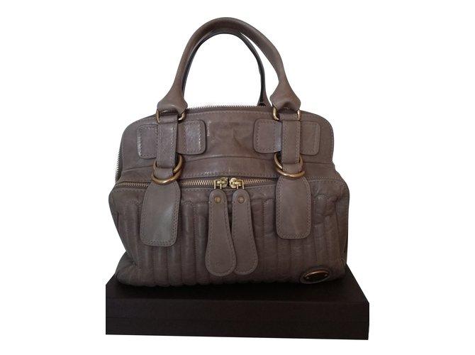 Chloé BAY Handbags Leather Beige ref.57528