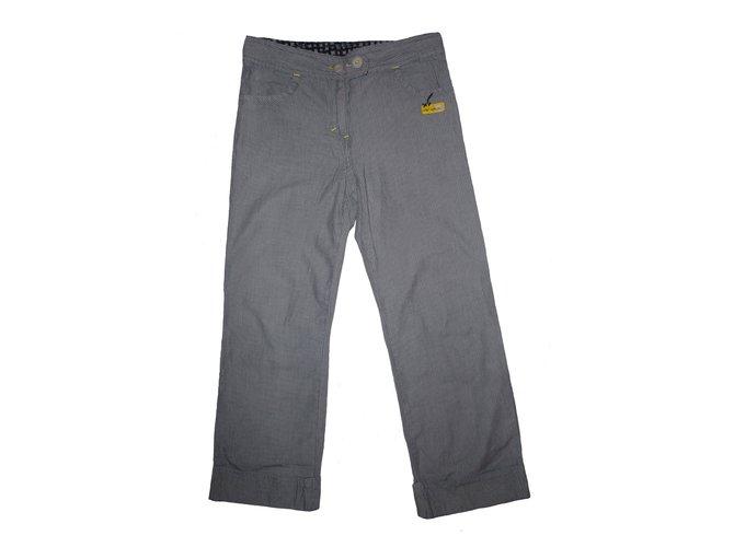 Pantalons garçon Autre Marque Serjent Major Coton Gris ref.57658