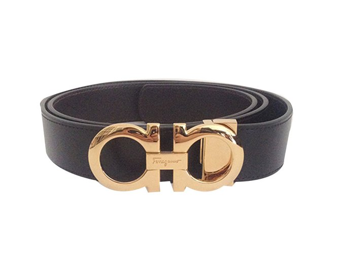 Salvatore Ferragamo Belts Belts Leather Black ref.57712 - Joli Closet 3c3614ca58