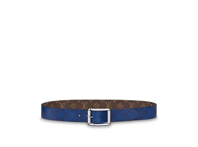 eab588bcd5ca Louis Vuitton Louis Vuitton Belt Reverso Belts Leather Blue ref.57771