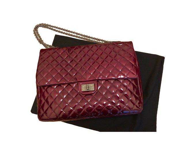d78f176715d7 Chanel Chanel Burgundy Patent 2.55 reissue bag Handbags Patent leather Dark  red ref.57839