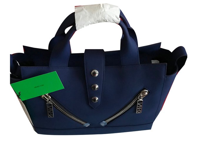 920025144c Kenzo KENZO Kalifornia Medium Tote Bag - Blue Marine Handbags Leather Blue  ref.57952