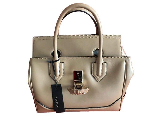 44c4ef0f8b11 Gianni Versace VERSACE palazzo empire large - BEIGE Handbags Leather Beige  ref.57953