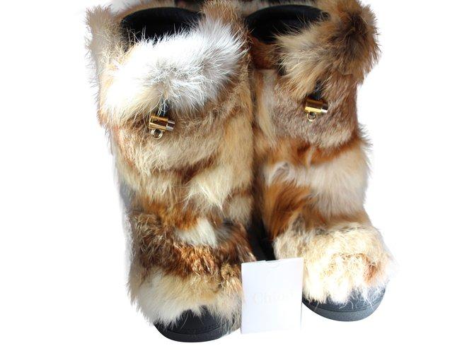 Chloé Boots Boots Fox Beige ref.58074