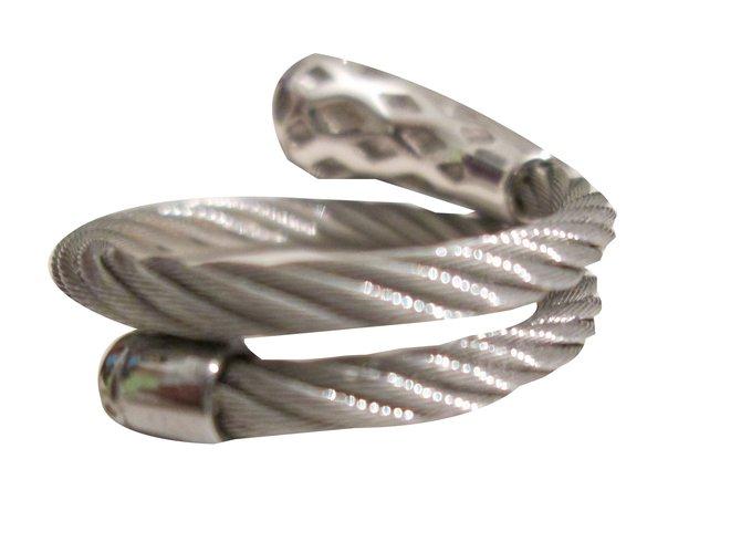 Bagues Autre Marque Charriol Bague Cables TU.260 EUR Autre Argenté ref.58182