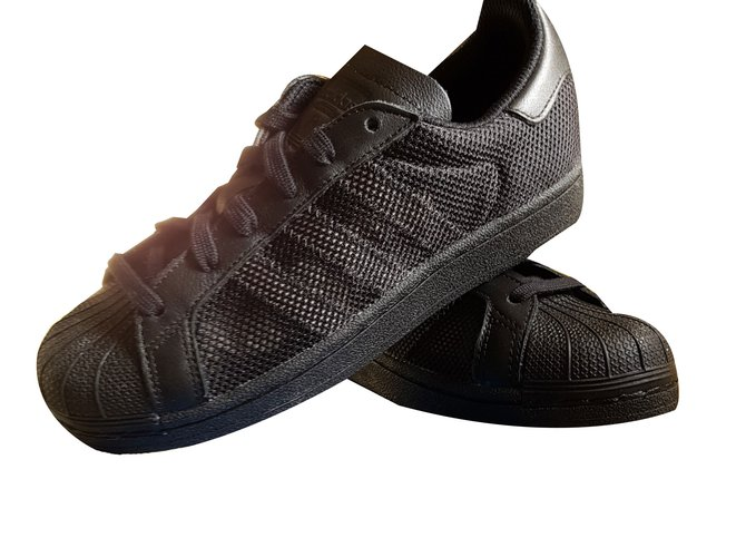 Adidas Sneakers Sneakers Leather,Cloth Black ref.58199