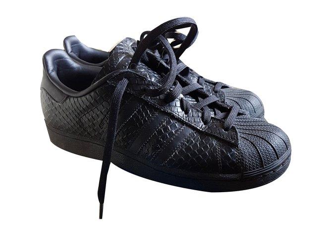 adidas superstar cuir noir