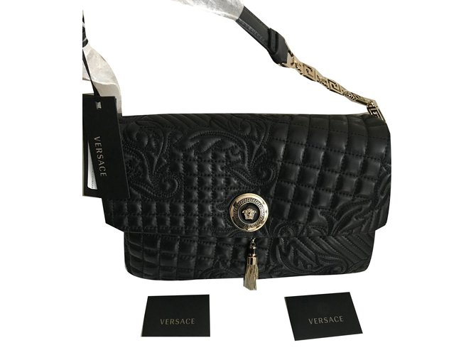 b585177e2067 Gianni Versace VERSACE VANITAS MEDEA QUILTED BAROCCO BAG - BLACK - Brand  New! Handbags Leather