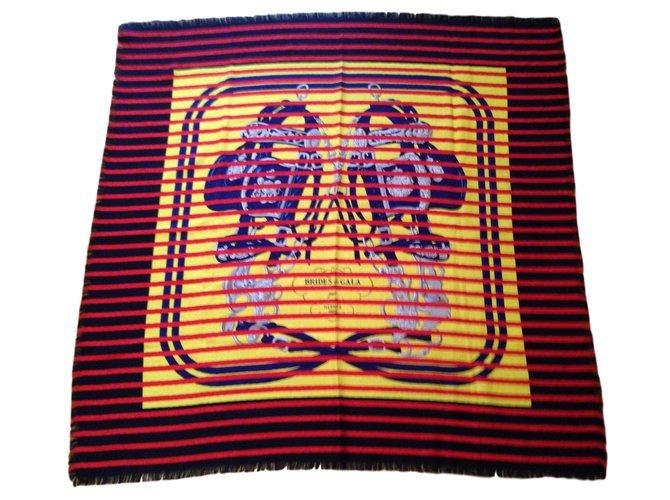 Foulards Hermès Foulard Hermes Cachemire et Soie Cachemire Multicolore  ref.58239 7304a8ee868