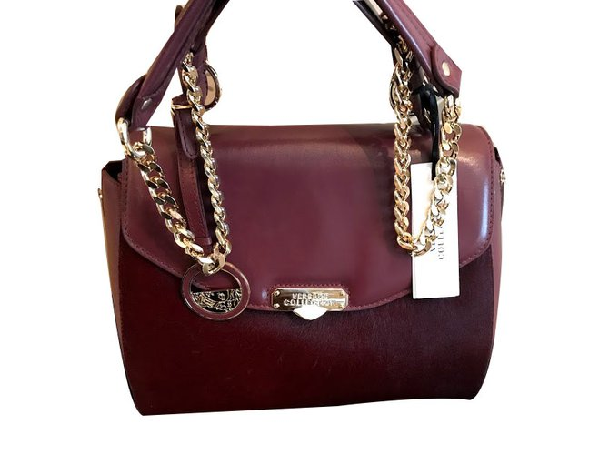 Versace Versace Collection Large Top Handle Calf Hair   Leather Bag - New!  Handbags Leather eeccbb470df3d